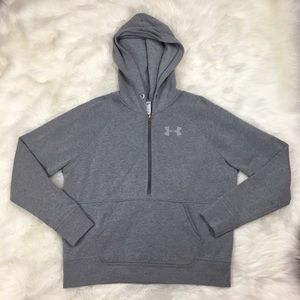 Under Armour Quarter Zip Hoodie Sweatshirt Small